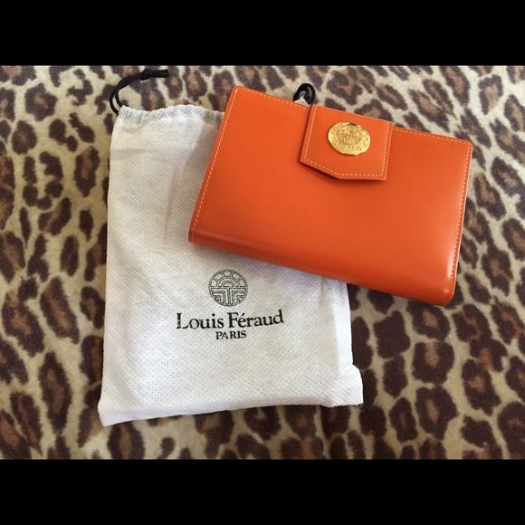 fbca2a1b396d Handbags - Louis Feraud Orange Wallet